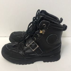 Ralph lauren polo boots youth 13.5 black